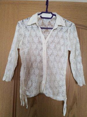 Canda Blusa in merletto bianco sporco-crema Fibra sintetica