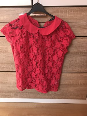 Atmosphere Blusa in merletto magenta-rosso lampone
