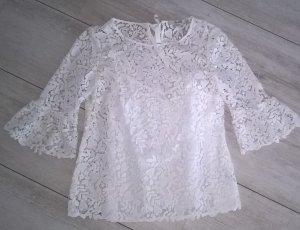 Boden Blusa in merletto bianco