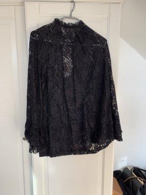 Zara Blusa de encaje negro
