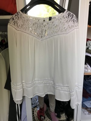 H&M Blusa in merletto bianco
