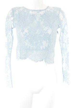 Spitzenbluse himmelblau Party-Look