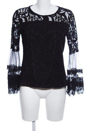 Lace Blouse black extravagant style
