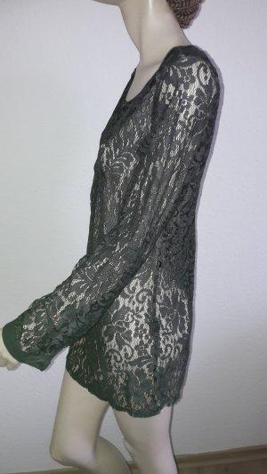 Spitzenbluse von Comma, grau, Gr. 40