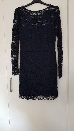 H&M Divided Kanten jurk donkerblauw