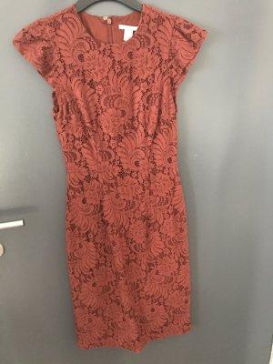 H&M Lace Dress russet