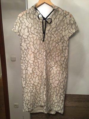 H&M Vestido de encaje crema