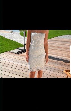 Zara Vestido de tubo crema