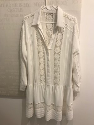 Babydoll-jurk wit-licht beige