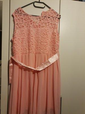 Vestido de encaje rosa-rosa claro