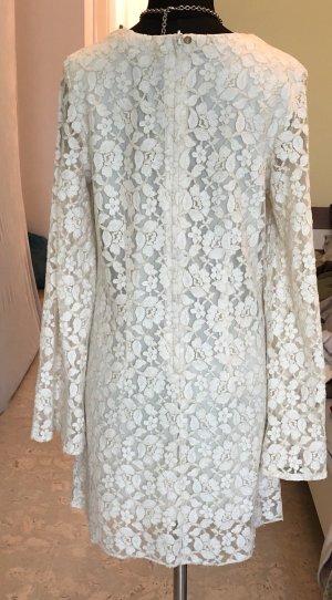 H&M Kanten jurk licht beige