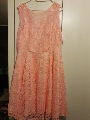 Kanten jurk rosé-lichtroze