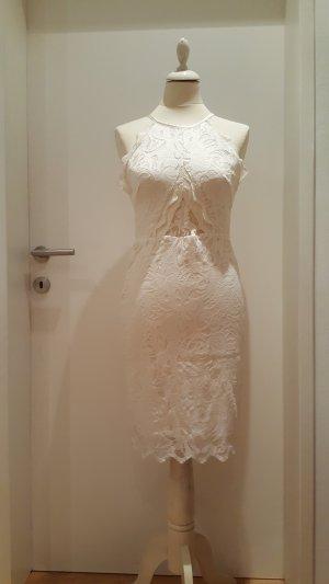H&M Premium Robe en dentelle blanc cassé