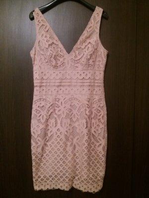 New Look Vestido de encaje nude-rosa empolvado