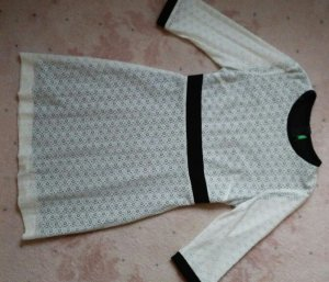 Benetton Kanten jurk wit-zwart