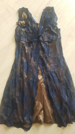 Heine Lace Dress bronze-colored-dark blue