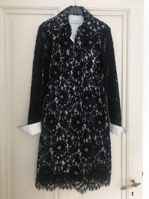 Calvin Klein Vestido tipo blusón negro-blanco