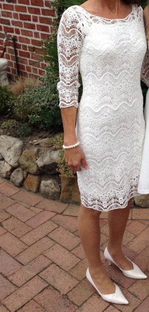Lauren by Ralph Lauren Lace Dress natural white cotton