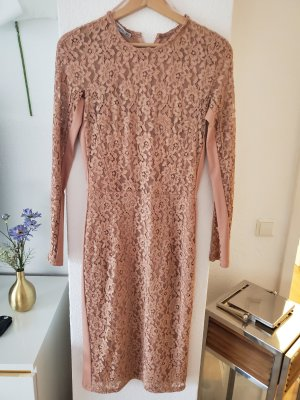 Mango Midi Dress dusky pink