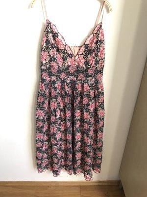Asos Vestido de encaje rosa-azul oscuro