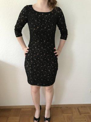 Guess Vestido de encaje negro