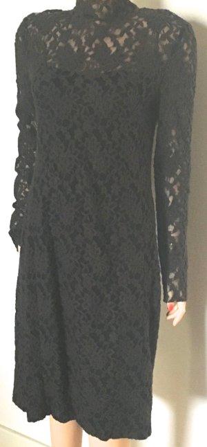 Barbara Schwarzer Robe trapèze noir tissu mixte