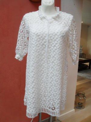 Robe trapèze blanc polyester