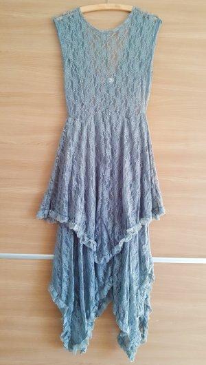 Lace Dress light grey-silver-colored mixture fibre
