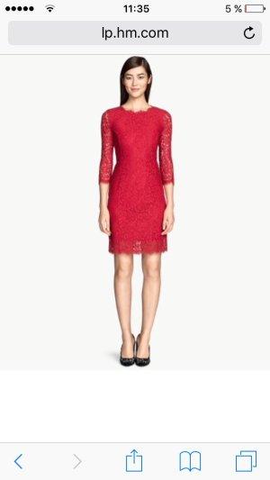 Spitzenkleid in rot vom H&M