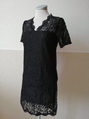 Spitzenkleid Kleid schwarz Spitze Gr. 34 36 XS S gothic Minikleid kurz