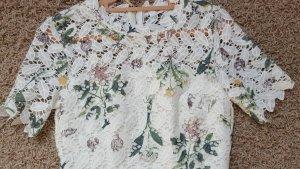 Lace Dress white-green