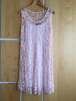 Vestino Kanten jurk rosé