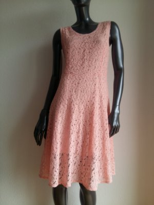Lace Dress apricot-pink cotton