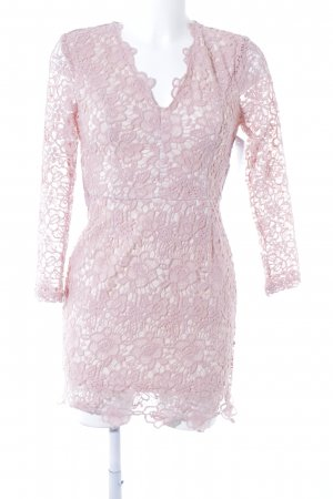 Lace Dress pink-pink party style