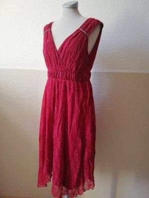 Spitzenkleid rot Spitze Kleid Gr. UK 14 40 M L rot bordeaux