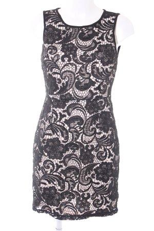 Spitzenkleid schwarz-creme Elegant