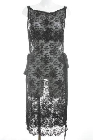 Vestido de encaje negro elegante