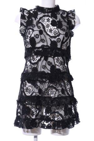Spitzenkleid schwarz florales Muster Elegant