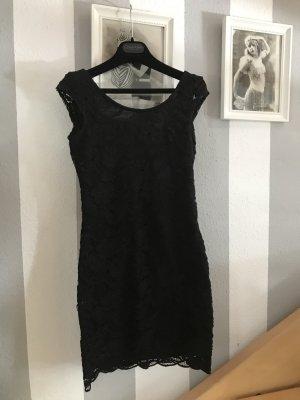 Spitzenkleid Schwarz Größe 34 H&M