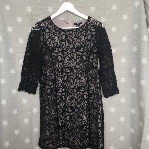 Spitzenkleid schwarz mit beigem Unterstoff Von H&M