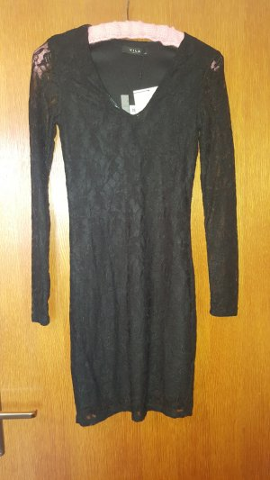 Vila Vestido de encaje negro