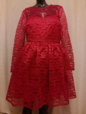 Asos Lace Dress dark red