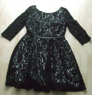 Guess Lace Dress black-natural white