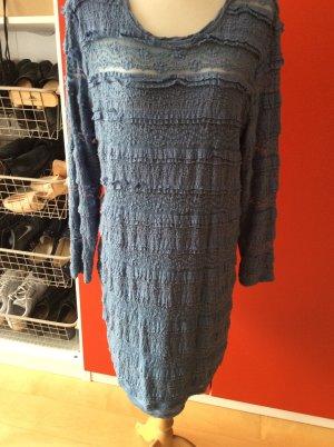 Spitzenkleid von h.u.m. In xl, jeansblau