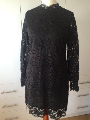 H&M Kanten jurk zwart