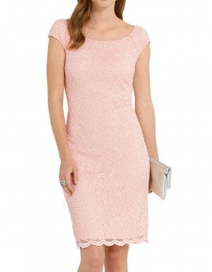 Alba Moda Lace Dress dusky pink