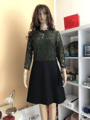 SET Urban Deluxe Lace Dress black-dark green