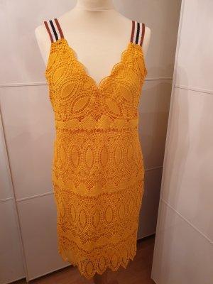 Sisley Lace Dress gold orange