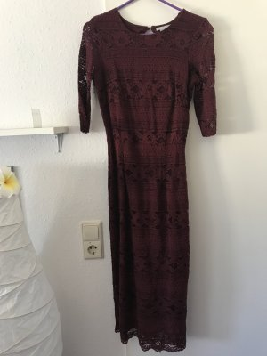 H&M Midi Dress bordeaux