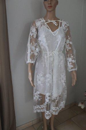 Kanten jurk wit Polyester